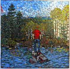 awesome Etsy listing at http://www.etsy.com/listing/109371486/stained-glass-mosaic-reflection-mural