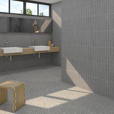 VIVES | Baño | Bathroom | Cies wall tile series | Sica Grafito 32x99 cm.