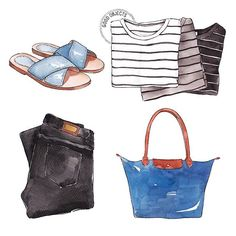 Good objects - Some spring basics #goodobjects #watercolor #illustration