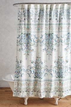 Anthropologie Florilla Shower Curtain The Most Useful Bathroom Shower Ideas There are almost uncount House Styles, Cool Shower Curtains, Bohemian Shower Curtain, Cheap Curtain Rods, Curtains, Home, Curtain Designs, Bathroom Decor, Anthropologie Shower Curtain