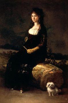 Francisco de Goya (1746-1828) : Portrait of Doña Maria Candado, 1790. Museo de Bellas Artes de Valencia. Valencia, Spain.                                                                                                                                                                                 Más
