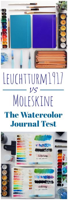 Whether you are using your journal for a recipe book, diary, bullet journal, or something else entirely, it's nice to know your options. I love using watercolors in my journal, but it's always a little nerve wracking. I decided to run a bullet journal watercolor test between two popular brands, the Leuchtturm1917 and the Moleskine, to see how well the pages stand up to different levels and types of watercolor. The results might surprise you!