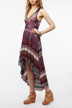 Ecote Lace Inset Knit Maxi Dress