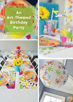 These cute decor ideas are a great way to celebrate the artist in your family. With fun table settings, funky balloons, and awesome painting activities this year's birthday will be a truly memorable one!