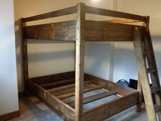 Queen over queen bunk beds for adults. We specialize in queen over queen bunk beds and can provide you with custom bunk beds at a great price. Queen Bunk Beds, Adult Bunk Beds, Houseboat Ideas, Custom Bunk Beds, Lofts, Cabins, Furniture Ideas, Colorado, Bedrooms