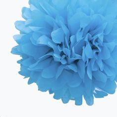 Dress My Cupcake 14-Inch Cornflower Blue Tissue Paper Pom Poms, Set of 4