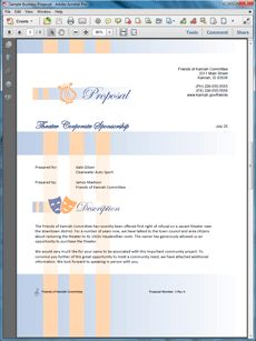 Sponsorship Sample Proposal - The Corporate Sponsorship Proposal is an example of a proposal using Proposal Pack to pitch a company on being a corporate sponsor for a community project. Create your own custom proposal using the full version of this completed sample as a guide with any Proposal Pack. Hundreds of visual designs to pick from or brand with your own logo and colors. Available only from ProposalKit.com (come over, see this sample and Like our Facebook page to get a 20% discount)