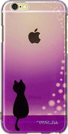 【 iPhone6ケース iPhone6カバー 】 かわいい 黒猫 (シルエット) イラスト プリント (パープル) 猫好きな方へ! MRLab http://www.amazon.co.jp/dp/B00OAP9CSM/ref=cm_sw_r_pi_dp_Eex4vb0MVKTJJ