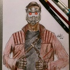 #starlord #art #illustration #comic #comicbook #sketch #Character #cartoon #Design #drawing #pencil #guardiansofthegalaxy #marvel #peterquill