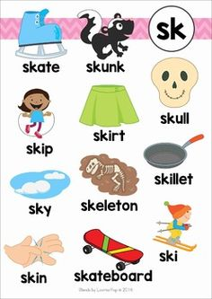 Blends Worksheets and Activities - SK Phonics Chart, Phonics Flashcards, Phonics Blends, Phonics Rules, Phonics Words, Jolly Phonics, Phonics Worksheets, Phonics Activities, English Phonics