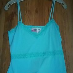 Turquoise tank top and Black skirt with polka dot Perfect for summer! Very cute and comfy skirt with tank top with lace trim....buy together for $25..or separate $15 each..never worn...skirt has tags No Boundaries Skirts