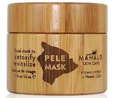 """Pele Mask by Mahalo Skin Care RETAIL VALUE: $64.00 Named after the fabled Goddess Pele who inhabits the active Kilauea volcano, Pele Mask is the reigning goddess of beauty revealing skin treatments. Artisan-crafted on the island of Kaua'i this velvety fine black powder activates a powerful blend of wild-harvested and organic super fruits and clean and clear skin leaving you with an """"I just had a facial"""" glow."""
