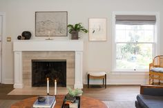 Emily Henderson_Scotts House_For Sale_English Bath_Pool_Traditional_Real Fireplace Mantle, Fireplace Ideas, Living Room Decor, Living Spaces, Mantle Styling, Mantel Surround, Home Interior, Interiores Design, Built Ins