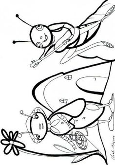 Grasshopper and Ant coloring page 14 Insect Coloring Pages, Colouring Pages, Coloring Sheets, Bugs And Insects, Autumn Activities, Conte, Story Time, Tucson, Science Park