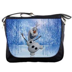 6da41996b08 Happy Snowman Olaf FROZEN Shoulder Messenger Bag School College Bag