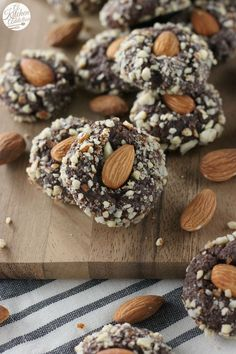 Fudgy Almond Cookies from @akitchenaddict