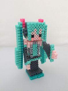 3D Hatsune Miku perler beads by miomio5