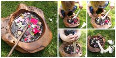 Mud kitchen play  List of skills it can lead to