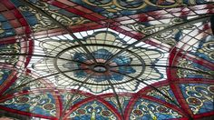 Custom Made Stained Glass Dome Ceiling Illuminated with Led Dimmable Lighting by Art Glass Environments, Inc.