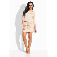 Rochie casual mini cu snururi elastice bej Casual, Dresses, Fashion, Vestidos, Moda, Fashion Styles, Dress, Fashion Illustrations, Gown