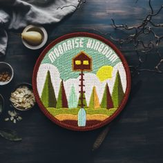 Moonrise Kingdom is one of my favorite Wes Anderson movies...if you can even pick a favorite, haha. I wanted to design and create a patch for the movie that I could take hiking with me on my favorite
