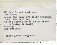 Typewriter Series #2120 by Tyler Knott Gregson