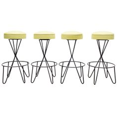 Paul Tuttle Leather Bar Stools OFFERED BY PIERRE ANTHONY GALLERIES $6,800