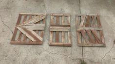 3-piece Wooden Arrow Wall Art from Reclaimed Pallet Wood