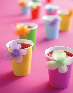 I know it'll be the middle of winter but pink jelly cups with butterflies stuck on the outside...cuuuuuute