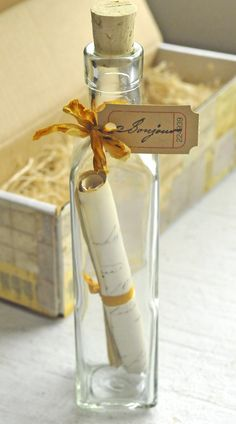 Bonjour! Message in a Bottle DIY from Stampington