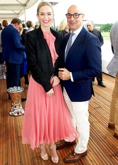 Emily and Stanley Tucci attend day two of the Audi Polo Challenge at Coworth Park on May 31, 2015 in London, England