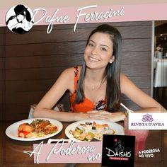 A Poderosa Dafne Ferracini aproveitou um delicioso almoço no restaurante Daisho. Ela provou e aprovou vários pratos e se sentiu muito à vontade com o ambiente!