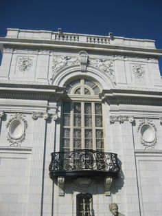 I took this photo 9/28/2011 of the balcony attached to the landing of the staircase at Rosecliff Mansion, Newport, Rhode Island
