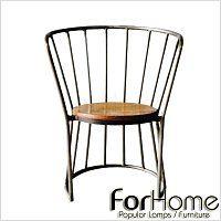 [ ForHome ] MH-245 法式 LOFT 工業風 復古工業 仿舊 鐵件 芒果木 卡普餐椅 水管椅