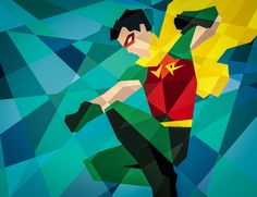 DC COMICS GOES GEOMETRIC by Eric Dufresne, via Behance