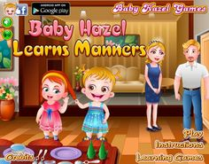 Join Baby Hazel in learning important social etiquette from mom. Hazel doesn't feel the session boring so mom teaches her through an exciting play date. http://www.babyhazelgames.com/games/baby-hazel-learns-manners.html