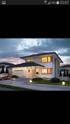 2 Storey House Design, Modern House Design, House Outside Design, Mediterranean Style Homes, Construction Cost, Architect House, Facade House, House Exteriors, Home Design Plans