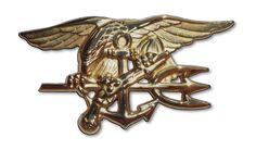 Navy Seal Trident Metal Sign