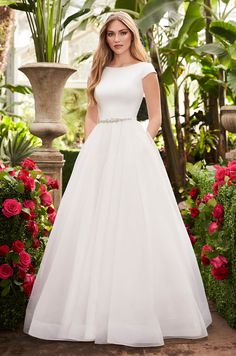 Prom Dresses For Teens, collectionsall?best=Breathtaking Cap Sleeve Wedding Dress Style 2253 Mikaella Bridal , Short prom dresses and high-low prom dresses are a flirty and fun prom dress option. Kate Wedding Dress, Wedding Dress Organza, Wedding Dress With Pockets, V Neck Wedding Dress, Elegant Wedding Dress, Wedding Dress Styles, Bridal Gowns, Gown Wedding, Tulle Wedding