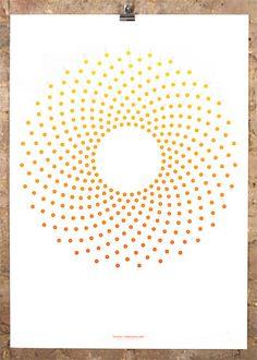 Flora's dial by Accept & Proceed Flower Market, Art Festival, The Duff, Limited Edition Prints, Artwork Prints, Flora, Symbols, Letters, Circles