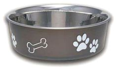Loving Pets, Bella Bowl, Bella Dog Bowl Large Stainless Steel Dog Bowls Espresso #LovingPets