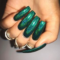 Trendy Irish Nails Designs Ideas For Women Nails Looks More Beautiful 23 Best Acrylic Nails, Acrylic Nail Designs, Acrylic Nails Green, Irish Nail Designs, Irish Nails, Fire Nails, Green Nails, Swag Nails, Uk Nails
