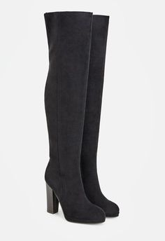 Work the room in these over-the-knee boots! Iman's tall shaft is well complimented by her faux stacked heel. These are bound to be an eye-catcher! ...