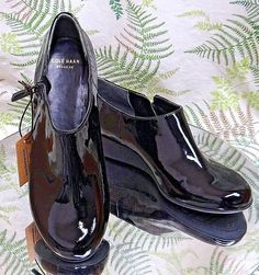 COLE HAAN BLACK LEATHER WATERPROOF LOAFERS RAIN MOCCASINS SHOES US WOMENS SZ 6 B #ColeHaan #LoafersMoccasins #WeartoWork