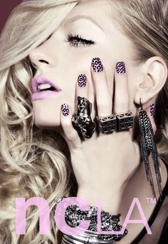 "You can never go wrong with Leopard nails in our book! Purple Leopard ""Flamingo Resort"" nail wraps! shopncla.com"