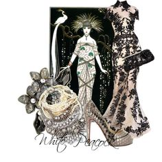 """""""White Peacock"""" by moodycat on Polyvore"""
