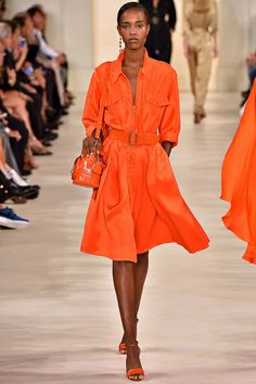 Ralph Lauren's Lady in Tangerine Spring 2015 RTW – Runway – Vogue
