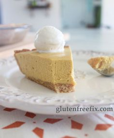 ~No Bake Pumpkin Cheesecake~  Paleo, Gluten and Dairy Free