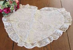 Exquisite Antique Normandy Lace French Heart Pillow Sham | eBay