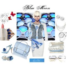 """""""Blue Moon"""" by thedyb on Polyvore #fashion #shoes #sandals #diamonds #jewelry #accessories #earrings #necklace #watches #pastels #pastel #pastelshoulderbag #blue #lightblue #denim #bluejean #vest #handbag #bag #purse #dresses #dressy #hot #haute #xfactor #fabulous #fashionista #chic #girly #personalstyle #style #hairstyle #outfit #makeup #lipstick #Color #spring2014 #Spring #springsummer2014 #party #PartyWear #denimjacket #expressyourself #fashionset #nailtrend #navy #contest #nailpolish"""